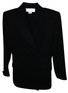 Jones New York 27 In. Long Slit In Satin Lining Black Blazer