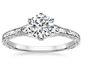 Gia Certified Diamond Vintage Engagement Ring