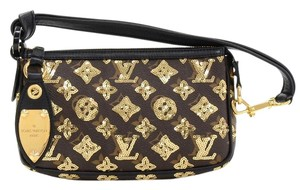 Louis Vuitton Pochette Alcantara Monogram Canvas Baguette