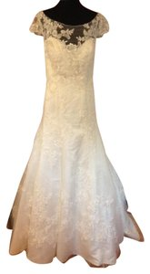Casablanca Ivory Lace 2180 Traditional Wedding Dress Size 22 (Plus 2x)