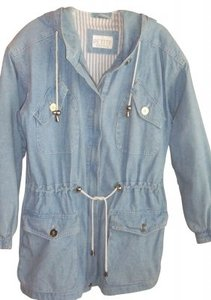 Petite Sophisticate Light Denim Womens Jean Jacket
