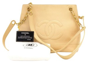 Chanel Caviar Leather Tote Shoulder Bag