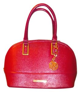Anne Klein Dome Pink Satchel in Hot Pink