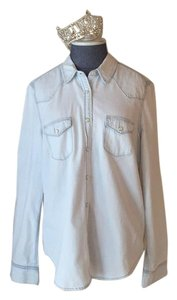 Gap Button Down Shirt Classic Wester Bleached