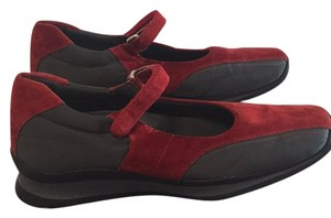 Prada Red suede with grey microfiber Athletic