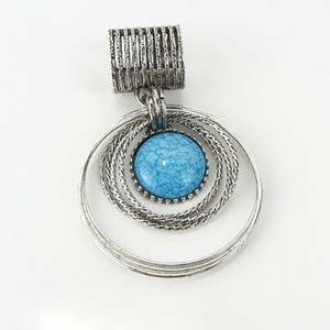 Blue Stone Scarf Ring Charm Jewelry Free Shipping