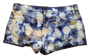 Tory Burch Denim Size 29 Mini/Short Shorts tie dye