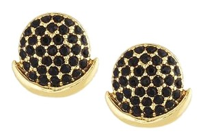 Rebecca Minkoff Delicate Pave Moon Stud Earrings