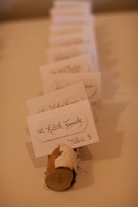 Wood Escort Card Holders