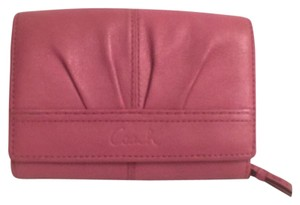 Coach Wallet Leather Trifold Coach