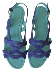 Boden Suede Leather blue Sandals