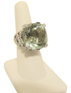 Victoria Wieck Victoria Wieck Cushion-Cut Green Amethyst Ring 7