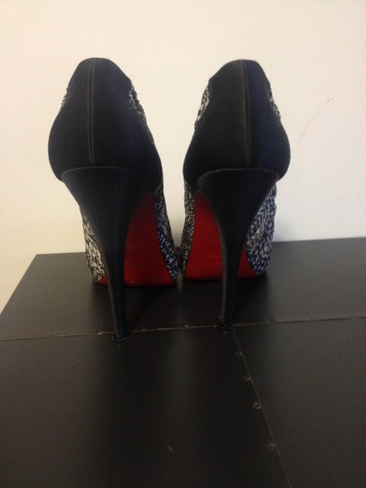 Christian Louboutin Silk Black and White Formal