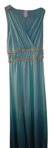 blue ombre , light blue fades to ocean blue Maxi Dress by