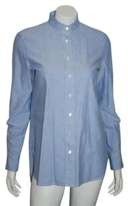 Frame Denim Collared Isabel Marant Denim Shirt Button Down Shirt blue