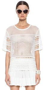 IRO Zimmermann Dvf Tory Burch Top White