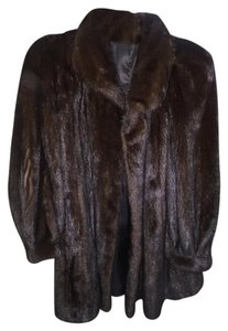 Female Mahogany Mink Coat Fur Fur Coat