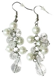 Freelance Fashion dangle earrings in white