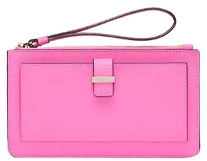 Kate Spade Leather Ceder Street Lacy Rouge Pink Clutch