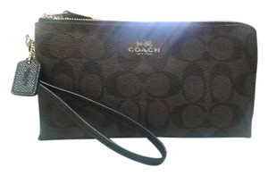 Coach Wallet New Wristlet in Brown/Black