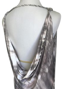 Arden B. Top Gray, white, light pink, silver