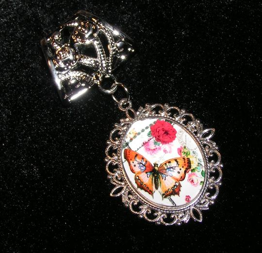 Unknown BOGO Free Butterfly Scarf Pendant Charm Free shipping