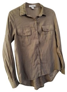Sans Souci Button Down Shirt Taupe