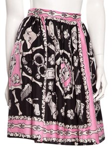 Moschino Skirt Pink Black Print