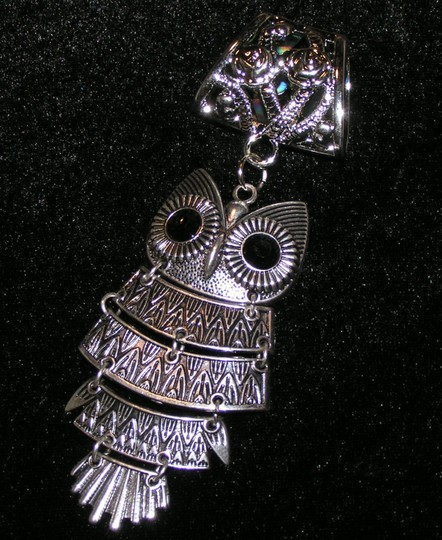Silver Owl Scarf Pendant Charm Free Shipping