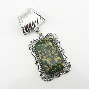 Green/Silver Bogo Free Scarf Charm Pendant Free Shipping Necklace