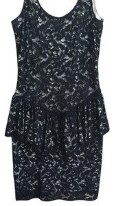 Betsey Johnson short dress Black & Cream on Tradesy