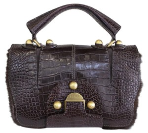 Fendi Rare Secret Code Alligator Mink Shoulder Bag