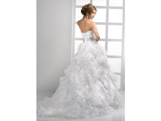 Sottero and Midgley Ivory Organza Jaidyn By Wedding Dress Size 8 (M)