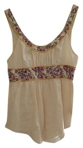 Free People 8 Gold Top White and golg