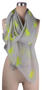 Unknown Grey & Green horse design cotton scarf wrap free shipping