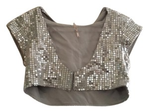 Free People Top Silver