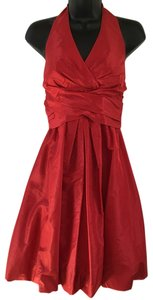 Donna Ricco 100% Silk Balloon Skirt Halter Dress