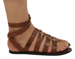Free People Leather Boho Festival Hippie Chic Whiskey Sandals