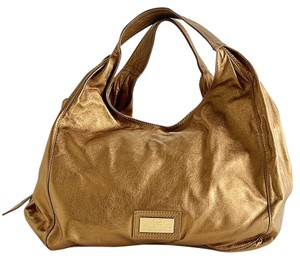 Valentino Mettalic Bow Leather Hobo Bag
