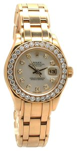 Rolex Rolex 18K Gold Pearlmaster Original MOP Diamond dial & bezel Ladies Watch