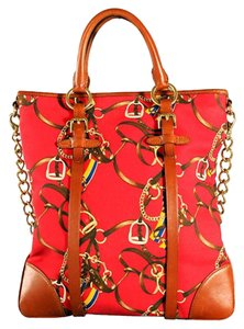 Ralph Lauren Lauren Collection Lauren Equestrian Tote in Red
