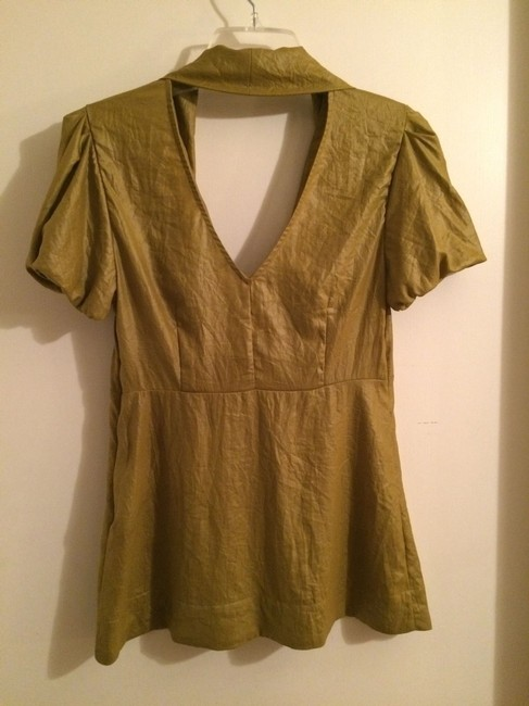 BCBG Cut-out Top Yellow
