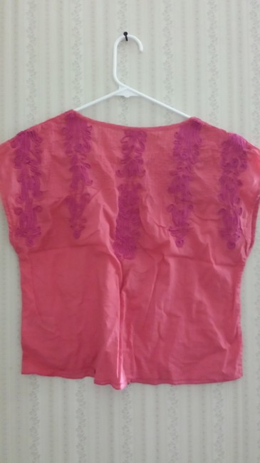 Free People Embroidered Top Pink