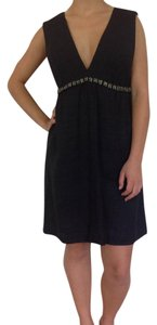 Melissa Odabash V-neck Beaded Linen Dress