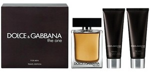 Dolce&Gabbana Dolce & Gabbana THE ONE 3 Piece Travel Gift Set for Men 3.4oz edt spray + 3.4oz S/G +3.4oz A/S * Brand New*