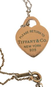 Tiffany & Co. Tiffany & Co. Return To Tiffany Sterling Silver with Blue Enamel Letters