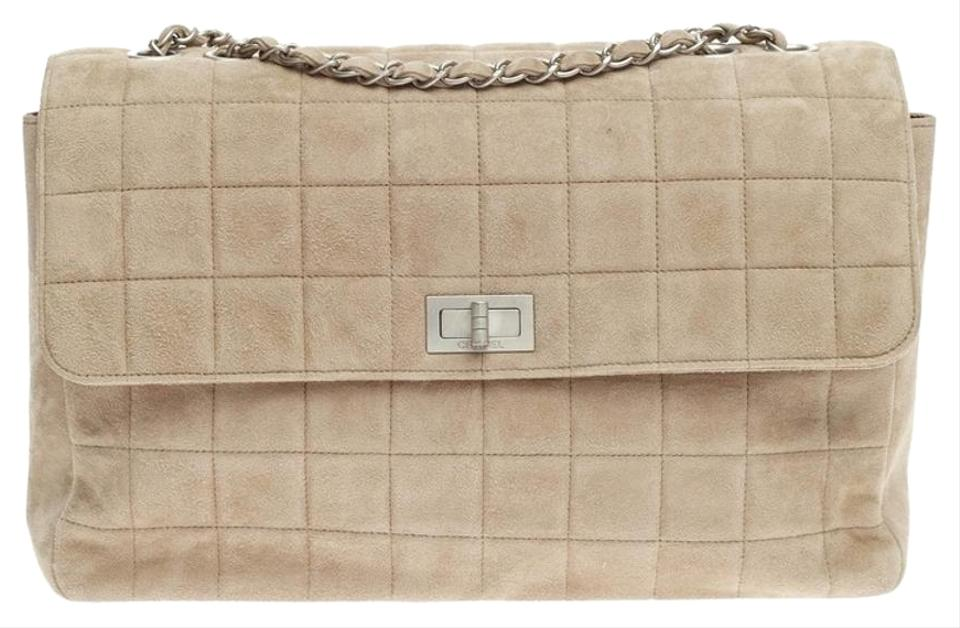 71c3541d53b2 Chanel Vintage Chocolate Bar Multipocket Flap Quilted Medium Suede ...
