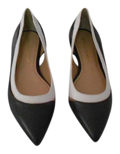 Item - Black Cut Out Accented Two Tone Leather Flats Size EU 39 (Approx. US 9) Regular (M, B)