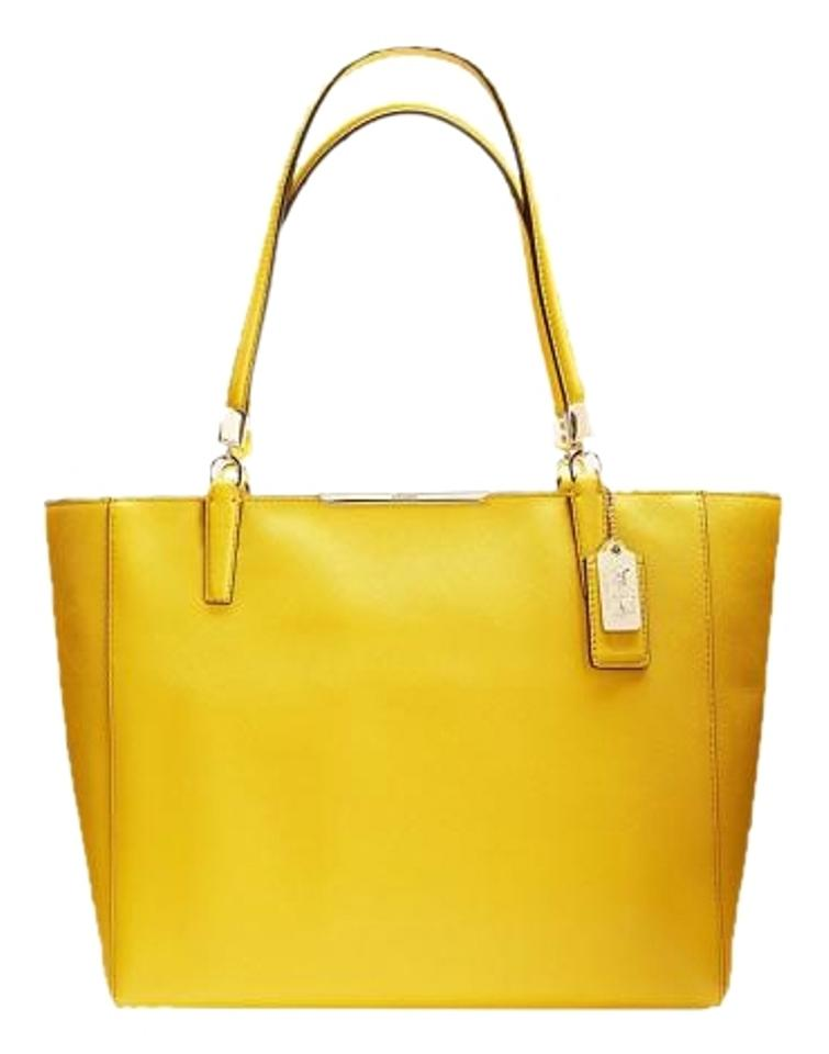 Coach Tote In Yellow