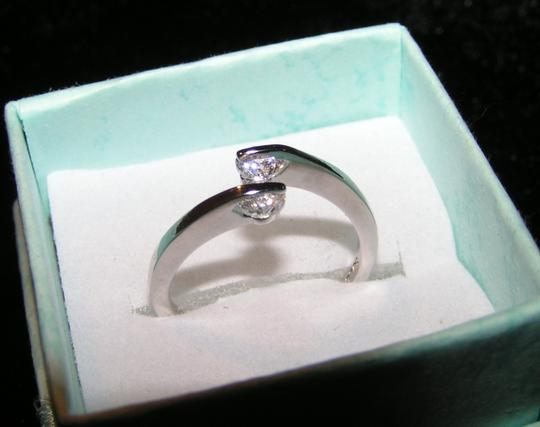 White Gold Filled Zircon Promise Ring Free Shipping